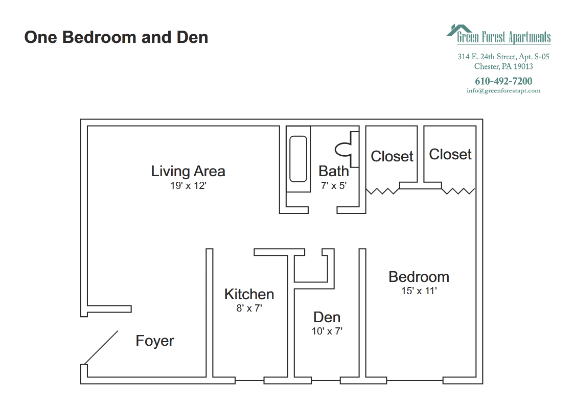 One Bedroom and Den